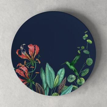 Avarua dinner plate, 27 cm, blue/multicoloured