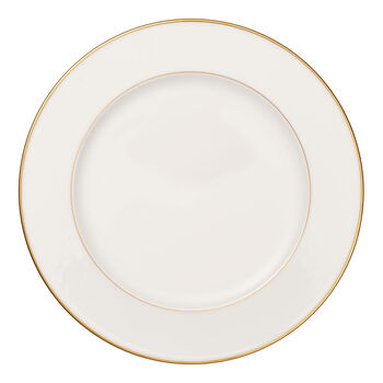 Anmut Gold round plate, 32 cm diameter, white/gold