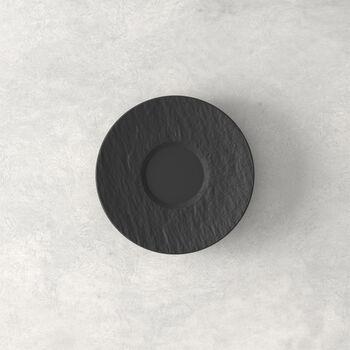 Manufacture Rock espresso cup saucer, black/grey, 12 x 12 x 2 cm