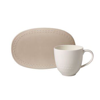 like.by Villeroy & Boch it's my moment Set, 2 pieces, for 1 person, almond
