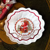 Christmas Glass Accessories bowl Santa on roof, clear/multicoloured, 25 cm, 850 ml, , large