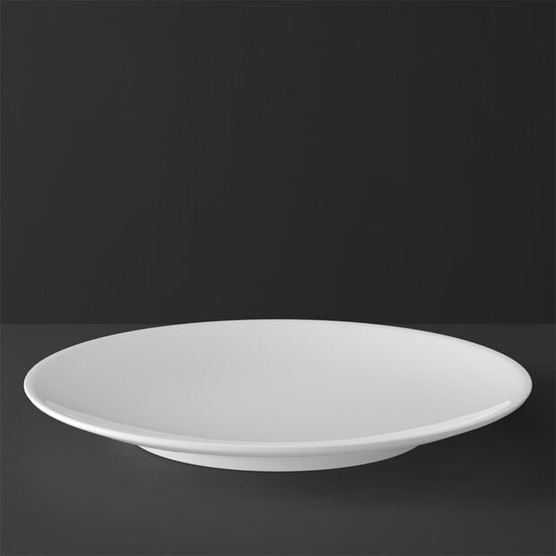 MetroChic blanc underplate/cake plate, 33 cm diameter, white, , large