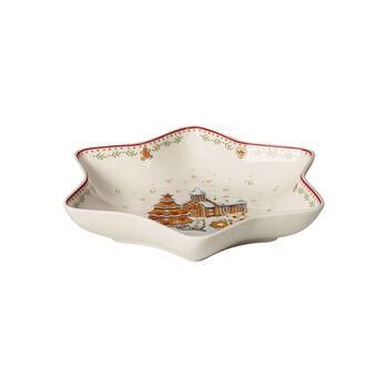 Winter Bakery Delight Star bowl medium, gingerbread village 24,5cm