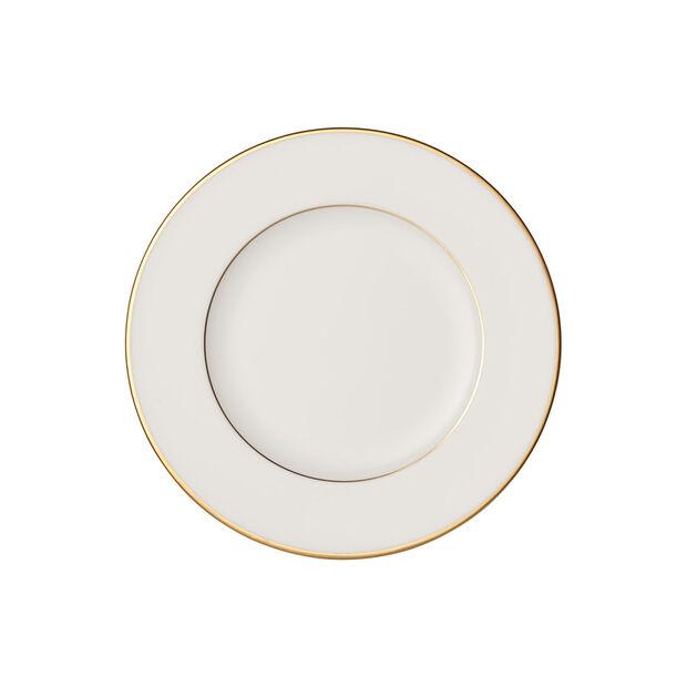 Anmut Gold bread plate, 16 cm diameter, white/gold, , large