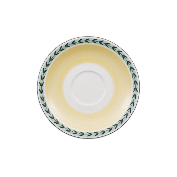 Charm & Breakfast French Garden Saucer white coffee cup XL 20cm, , large