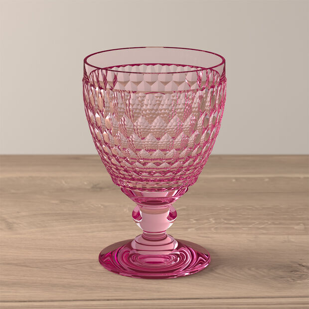 Boston Coloured Water glass Pink, , large