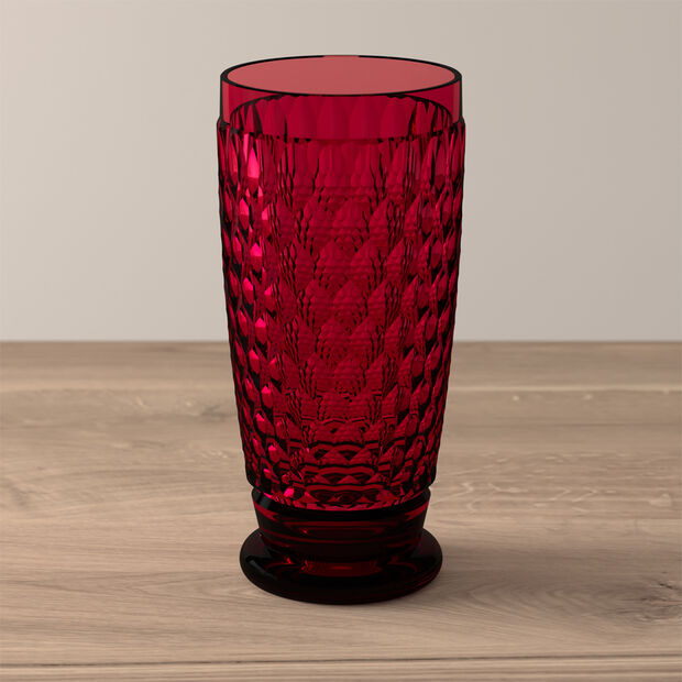 Boston Coloured Highball glass Red, , large