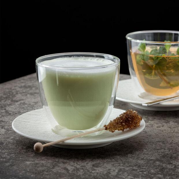 Manufacture Rock blanc Saucer espresso cup 12x12x2cm, , large