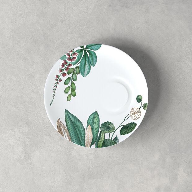 Avarua espresso cup saucer, 14.5 cm, white/multicoloured, , large