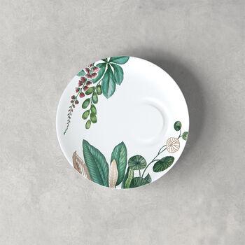 Avarua espresso cup saucer, 14.5 cm, white/multicoloured