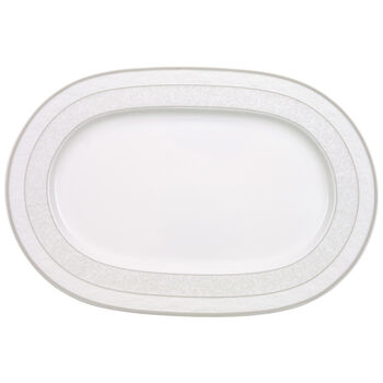 Gray Pearl oval plate 35 cm