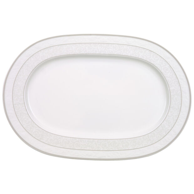 Gray Pearl oval plate 35 cm, , large