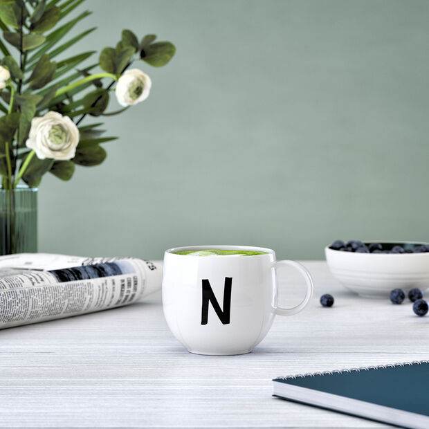 Letters Mug N 13x10x8cm, , large