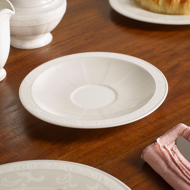 Gray Pearl Saucer breakfast/soup cup 18cm, , large