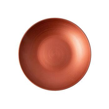 Manufacture Rock Glow flat bowl, copper/black