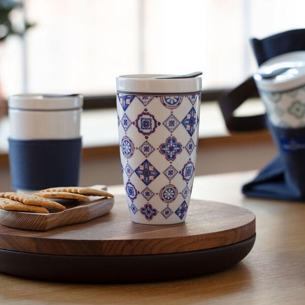Modern Dining To Go Indigo travel coffee mug, , large