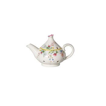 Spring Awakening tea light holder, pot, yellow/multicoloured