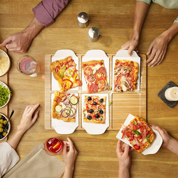 Pizza Passion rectangular party plate, , large