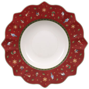 Toy's Delight red soup plate