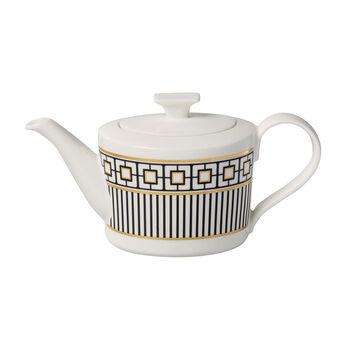 MetroChic coffee/teapot, 1.2 l, white/black/gold