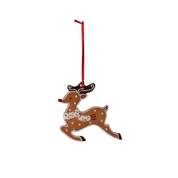 Winter Bakery Decoration gingerbread reindeer ornament