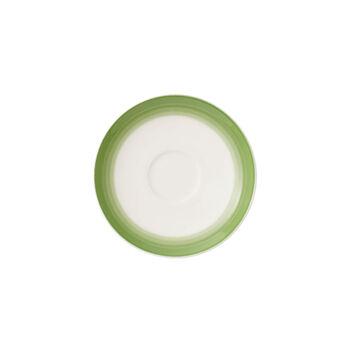 Colourful Life Green Apple espresso/mocha cup saucer