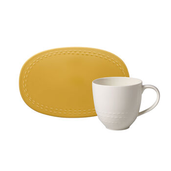 like.by Villeroy & Boch it's my moment Set, 2 pieces, for 1 person, honey