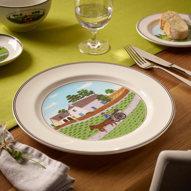 Design Naif dinner plate Farmer, , large