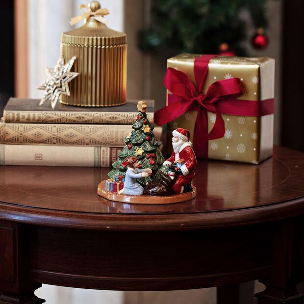 Christmas Toy's lantern distributing presents, multicoloured, 15 x 14 x 14 cm, , large