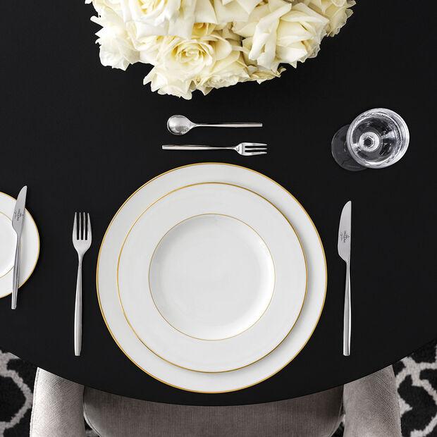 Anmut Gold dinner plate, 27 cm diameter, white/gold, , large