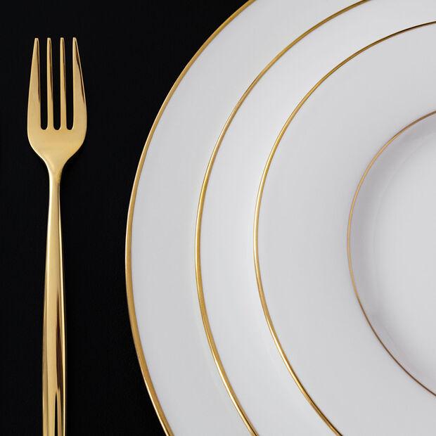 Anmut Gold breakfast plate, 22 cm diameter, white/gold, , large