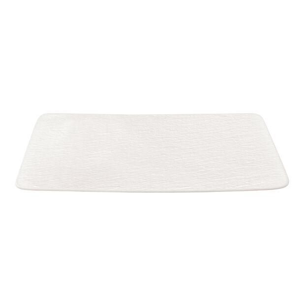 Manufacture Rock Blanc rectangular multifunctional plate, white, 28 x 17 x 1 cm, , large
