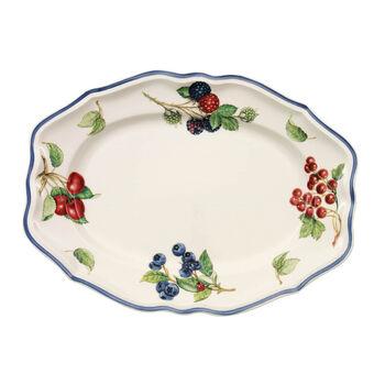 Cottage Oval platter (3) 30cm