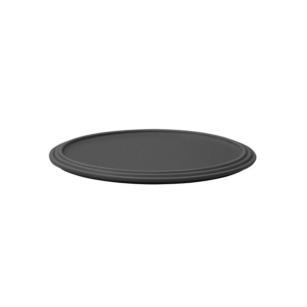 Iconic serving plate, black, 24 x 1 cm, , large