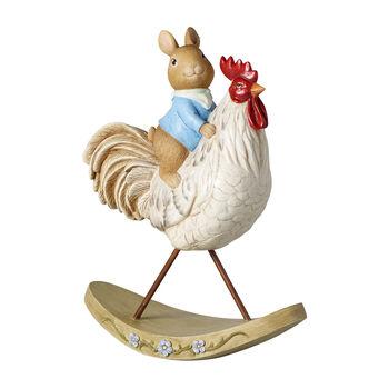 Bunny Tales decorative figurine, Bunny with chicken
