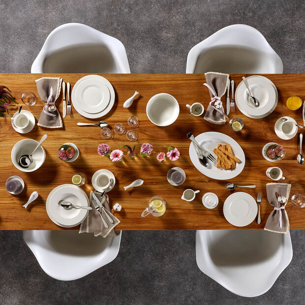 Twist White breakfast set for two 6 pieces, , large