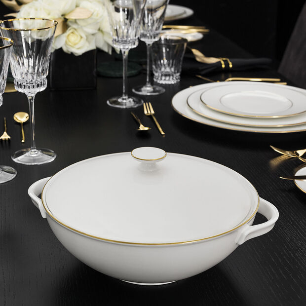 Anmut Gold tureen, white/gold, , large