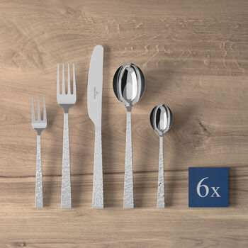 Blacksmith table cutlery 30 pieces, for 6 people
