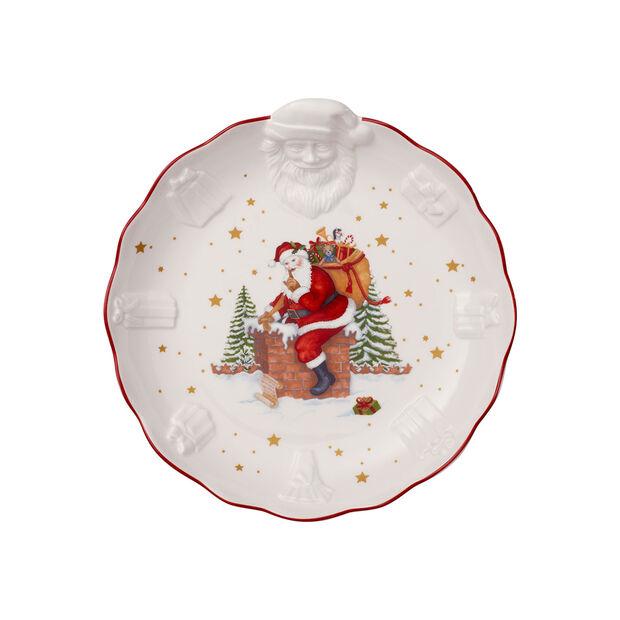 Toy's Fantasy relief bowl Santa, white/multicoloured, 24 x 25 x 4.6 cm, , large