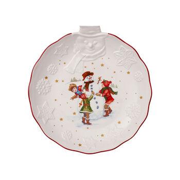 Toy's Fantasy relief bowl snowman, white/multicoloured, 26 x 24.5 x 4.4 cm
