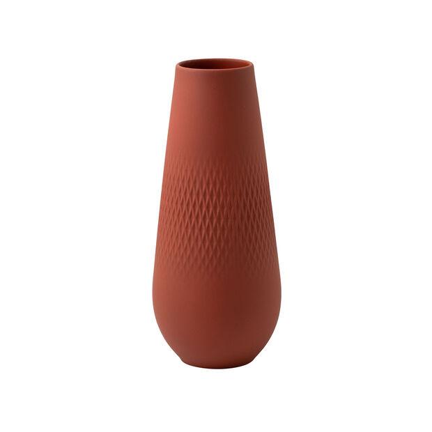 Manufacture Collier terre tall vase, Carré, 11.5 x 11.5 x 26 cm, , large