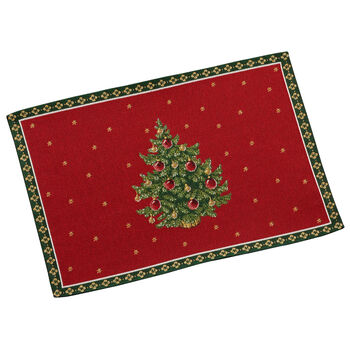 Toy's Delight Gobelin placemat tree, red/multicoloured, 32 x 48 cm