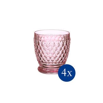 Boston coloured Tumbler rose Set 4 pcs