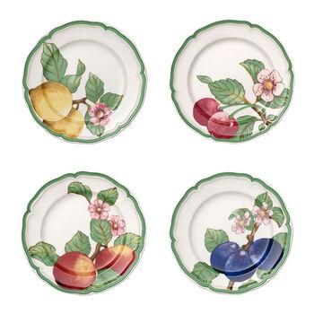 French Garden Modern Fruits dinner plate 4-piece set