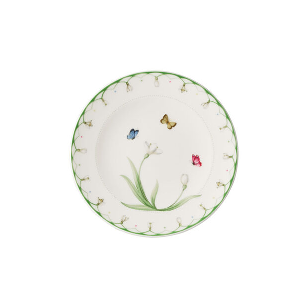 Colourful Spring bread plate, white/green, , large