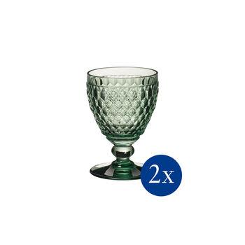 Boston coloured White wine goblet green Set 2 pcs