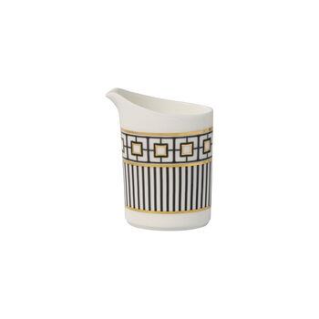 MetroChic milk jug, 220 ml, white/black/gold