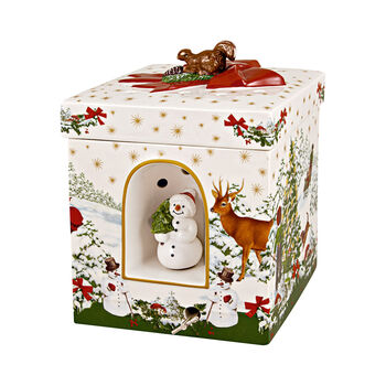 Christmas Toys large square gift box Christmas tree, 16 x 16 x 21.5 cm