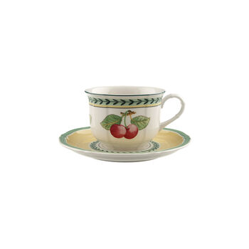French Garden Fleurence Breakfast cup & saucer 2pcs