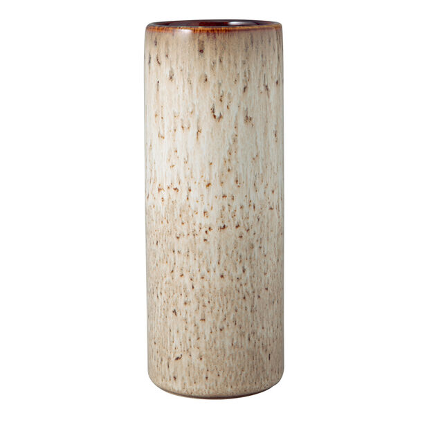 Lave Home cylinder vase, 7.5 x 7.5 x 20 cm, Beige, , large